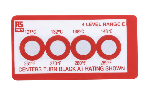 Product image for 4 level temp sensitive label,127-143degC
