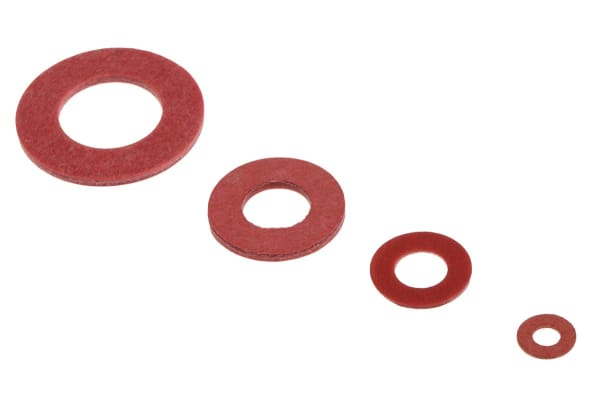 Product image for Red vulcanised fibre washer kit