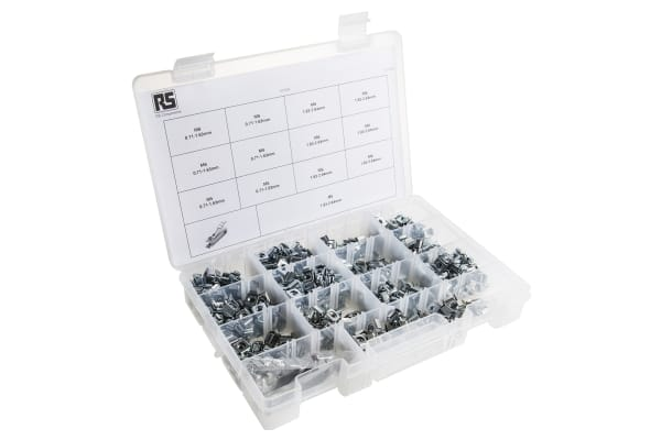 Product image for Assorted cage nut kit w/insertion tool