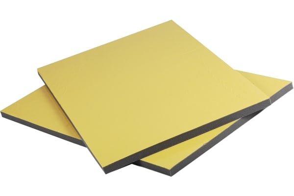 Product image for RS PRO Adhesive PUR Foam Acoustic Insulation, 1m x 600mm x 28mm