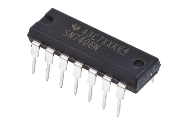 Product image for HEX INVERTOR,SN7406N DIP14 4.75-5.25V
