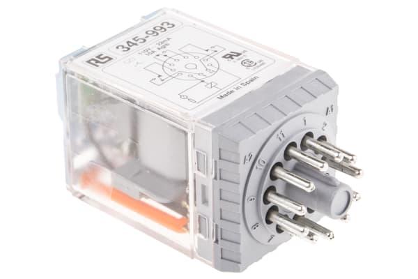 Product image for 11PIN 3PDT PLUG-IN RELAY,10A 110VAC COIL