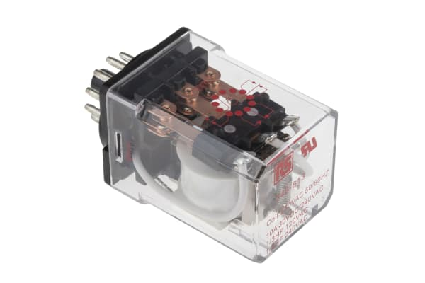 Product image for 11pin 3PDT plug-in relay,10A 230Vac coil