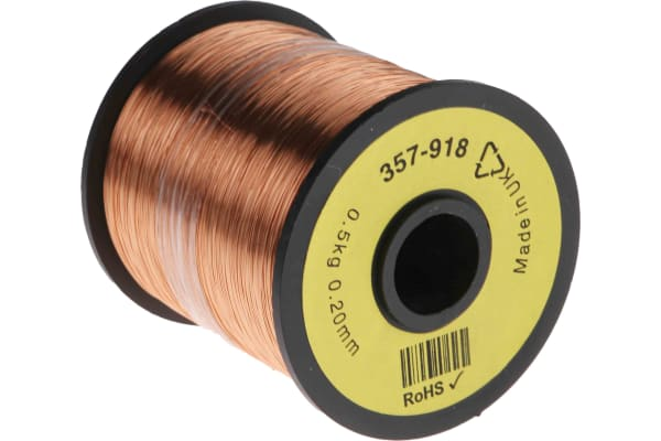 Product image for Insulated copper wire,31/32awg 1600m