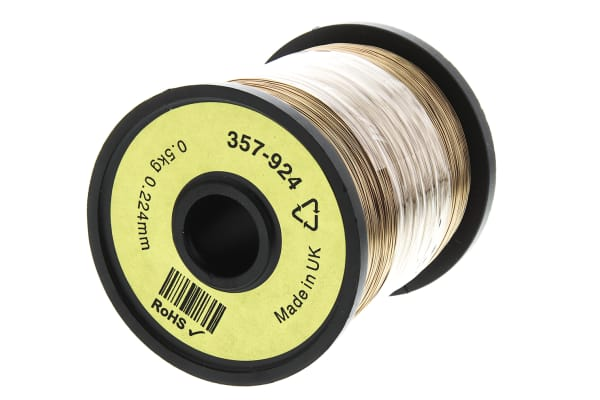 Product image for Insulated copper wire,30/31awg 1300m