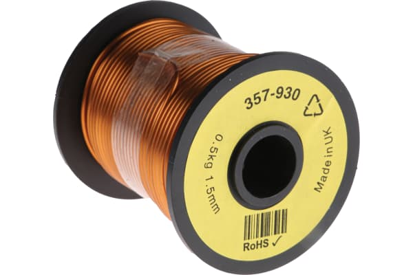 Product image for Insulated copper wire,15awg 30m