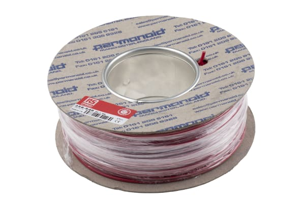 Product image for Red rigid switchgear cable,1/1.13mm