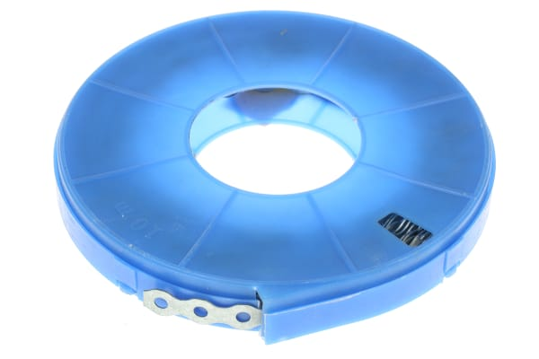 Product image for Steel perforated fixing strap,12mm W