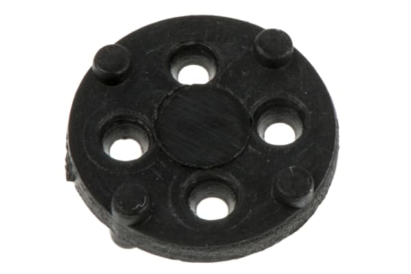Product image for TO5 black polyester transistor pad