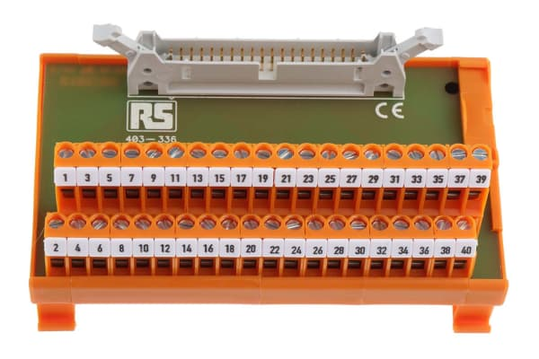Product image for 40 way IDC header DIN rail terminal