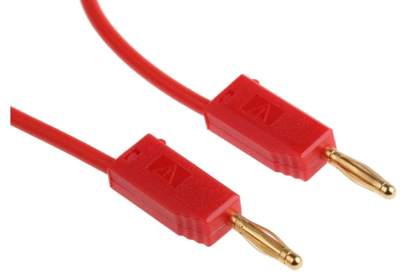 Product image for 500mm red standard test lead,2mm plug