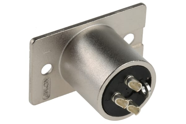 Product image for 3 WAY NICKEL FINISH XLR PANEL PLUG,16A