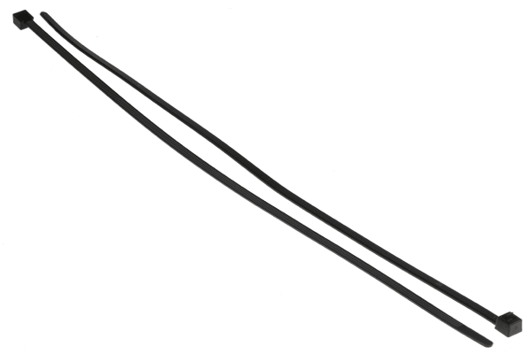 Product image for Black Releasable Cable Tie, 350x4.6mm