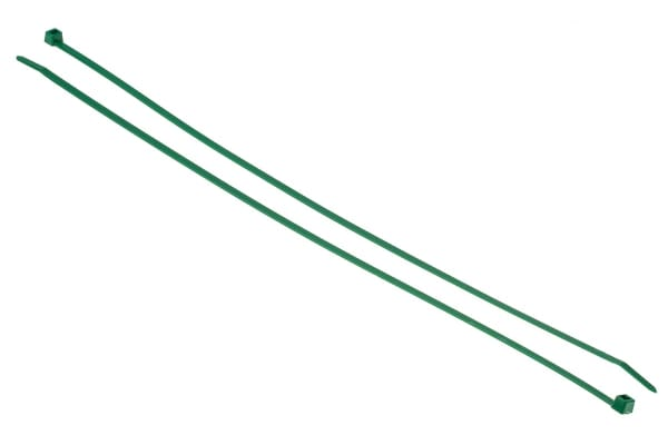 Product image for Green nylon cable tie 390x4.6mm