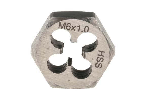 Product image for HSS die nut M6/ 1.0 pitch
