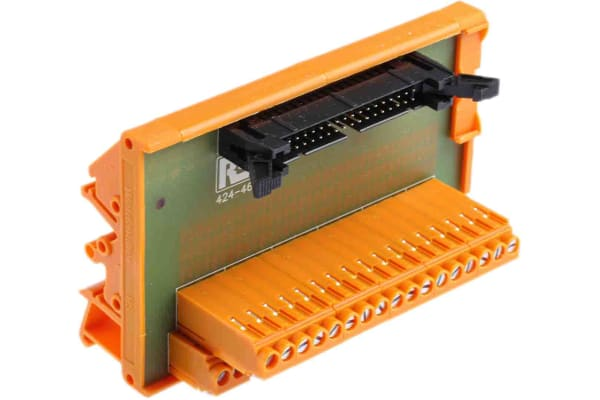 Product image for 34 way IDC header DIN rail terminal