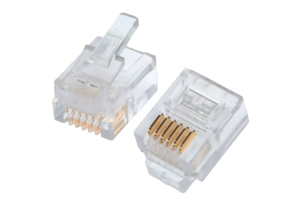 Product image for 6/6 ROUND SOLID/STRD WIRE DATA PLUG,1.5A