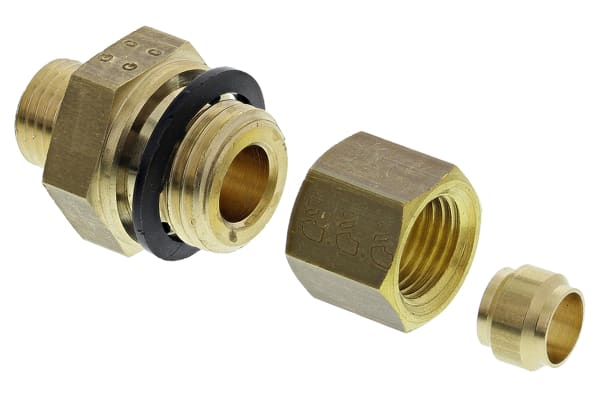 Product image for MALE STUD COUPLING,1/4IN BSPP MX6MM COMP