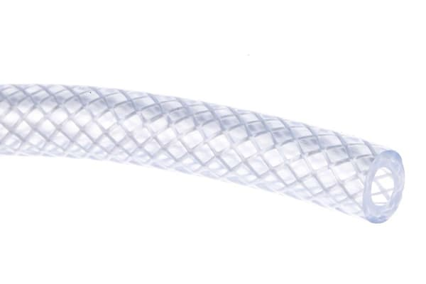 Product image for 85.44orced PVC hose,Clear 25m L 6.3mm ID