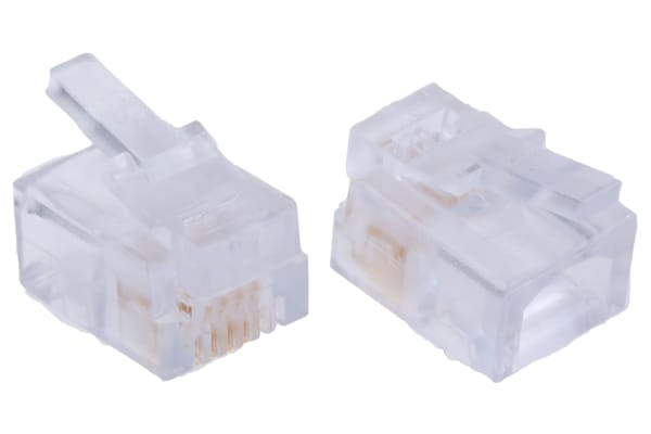 Product image for 6/4 ROUND SOLID/STRD WIRE DATA PLUG,1.5A