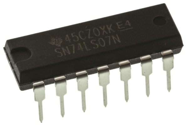 Product image for HEX BUFFER/DRIVER,SN74LS07N DIP14