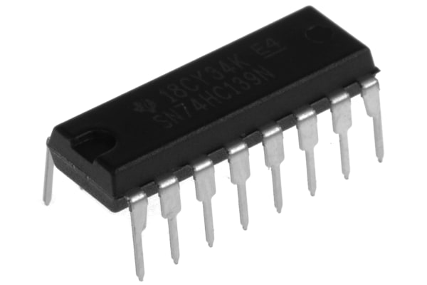 Product image for DUAL DECODER/DEMULTIPLEXER,SN74HC139N