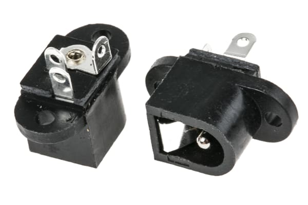 Product image for Chassis mount DC power skt 2.1mm 1A 12V