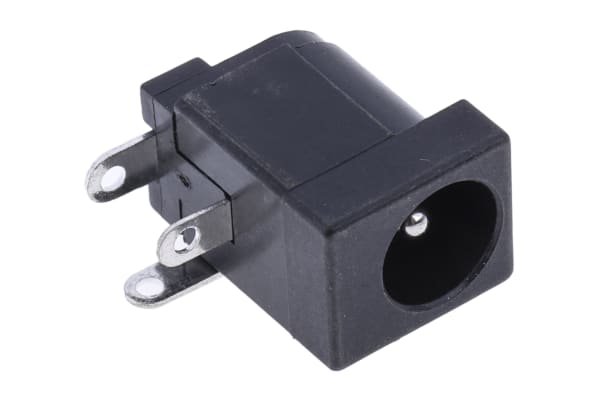 Product image for PCB mount DC power socket 2.1mm 1A 12V