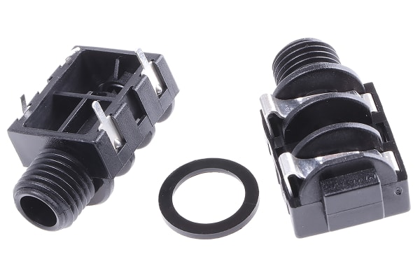 Product image for 2 way mono PCB mount jack socket,1/4in