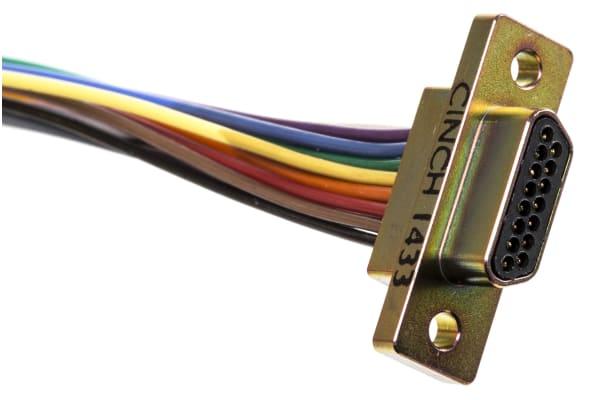 Product image for 15 way metal shell micro D plug,3A