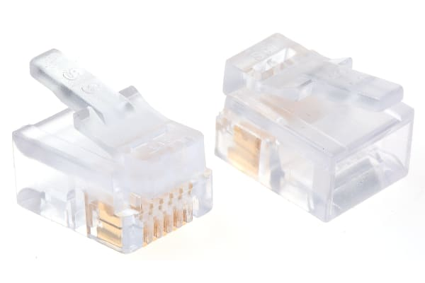 Product image for 6/6 FLAT SOLID/STRD WIRE DATA PLUG,1.5A