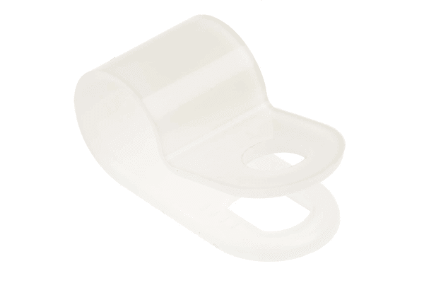 Product image for Nylon 6.6 cable P-clip,6.4mm dia