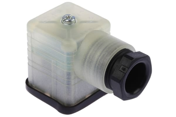 Product image for Hirschmann, GDML 2P+E DIN 43650 A, Female Solenoid Valve Connector, 24 V dc Voltage