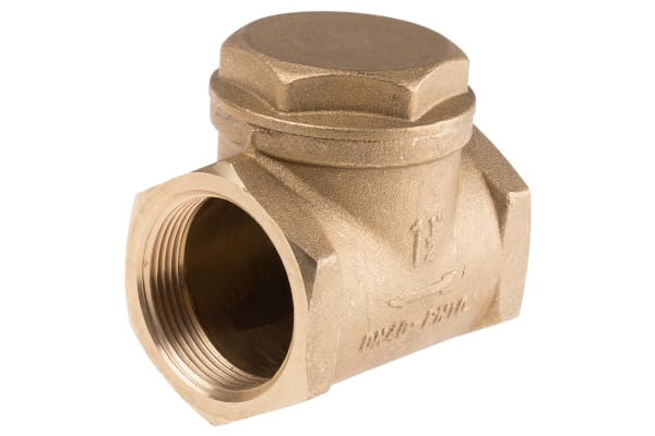 Product image for Brass swing check valve,1 1/2in BSP F