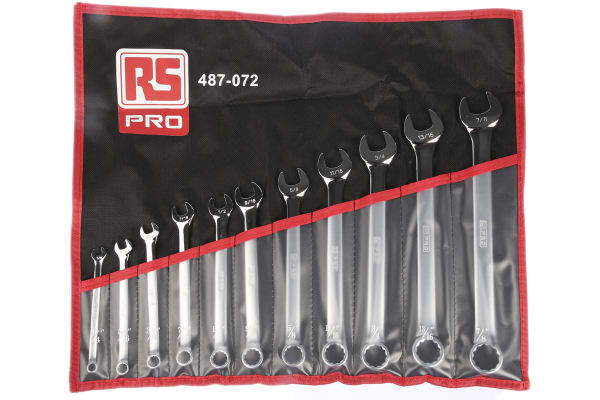 Product image for 11 Piece SAE Combination Spanner Set