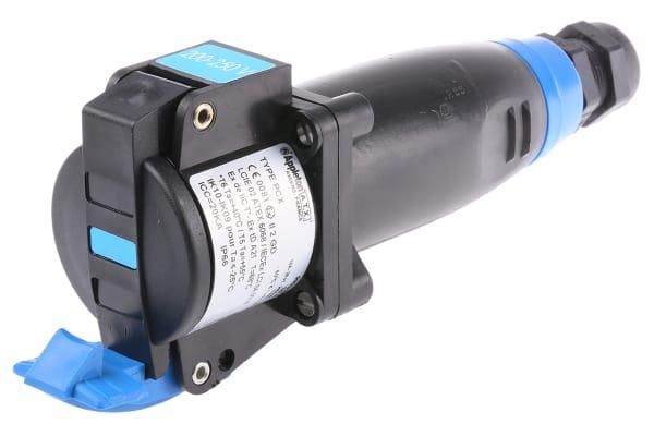 Product image for 2P+E HAZARDOUS AREA CABLE/PANEL SKT,240V