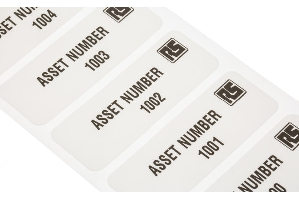 Product image for SAV asset label '1000-2999',58x22mm