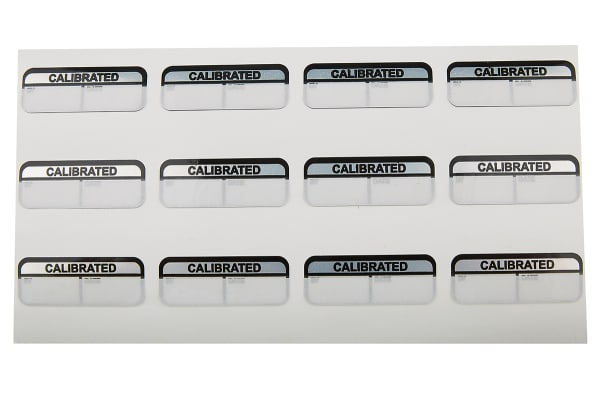 Product image for Blk write-on label 'CALIBRATED',40x15mm