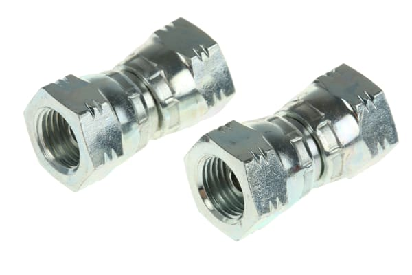 Product image for 1/4IN BSPP F-F SWIVEL UNION ADAPTOR