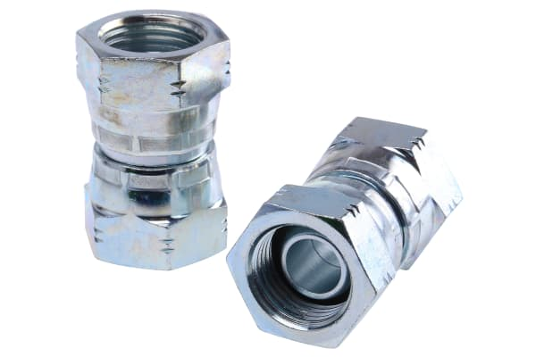Product image for 1/2IN BSPP F-F SWIVEL UNION ADAPTOR