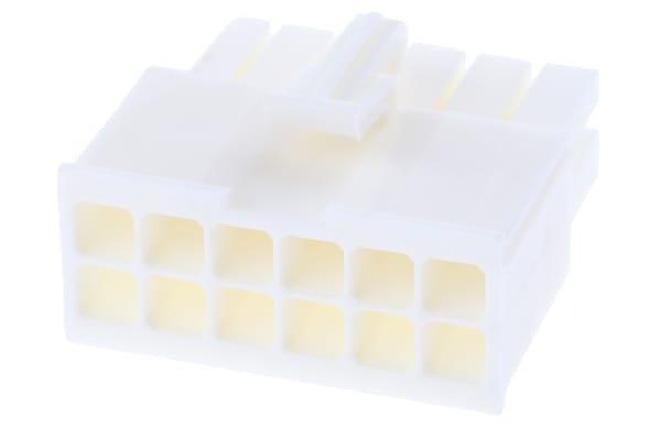Product image for 12w Plug Dual row White UL 94 V-0