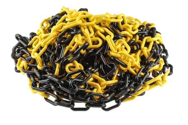 Product image for PLASTIC CHAIN 8 MM BLACK / YELLOW