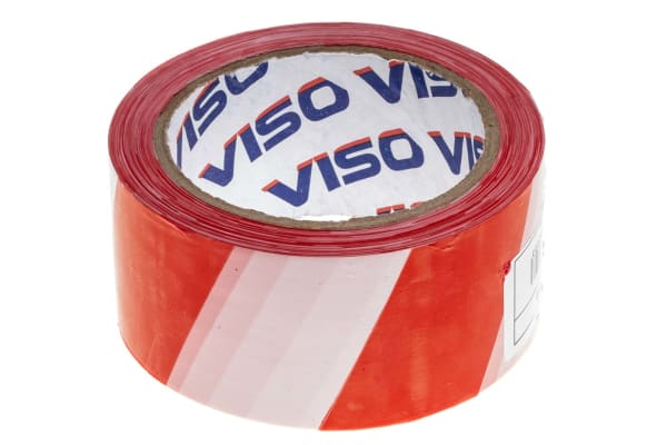 Product image for Red/white warning tape 5 cm x 100 m