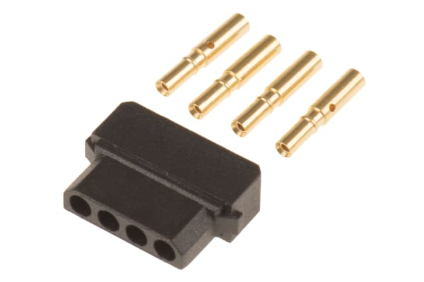Product image for 4W SIL FEMALE SHELL+CRIMPS KIT 22AWG