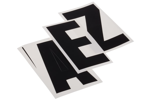 Product image for Black die cut label,75mm high letters