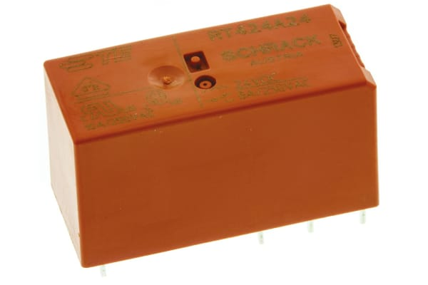 Product image for DPDT latching PCB relay, 8A 24Vdc coil