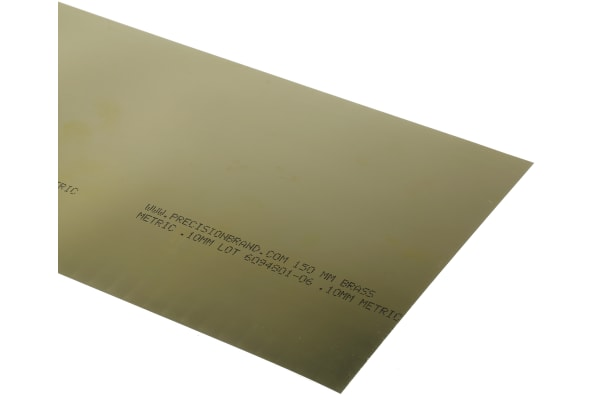 Product image for 0.10mm BRASS SH 150X2.5mt