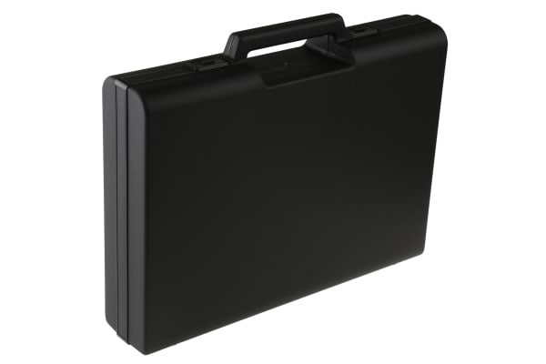 Product image for Black storage case w/handle,375x270x75mm