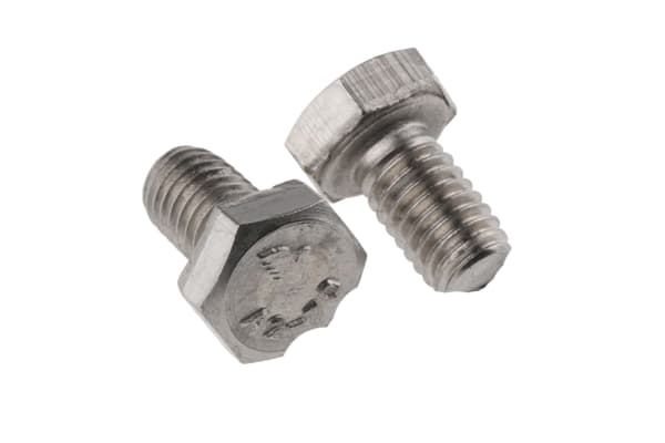 Product image for A2 s/steel hex head set screw,M6x10mm