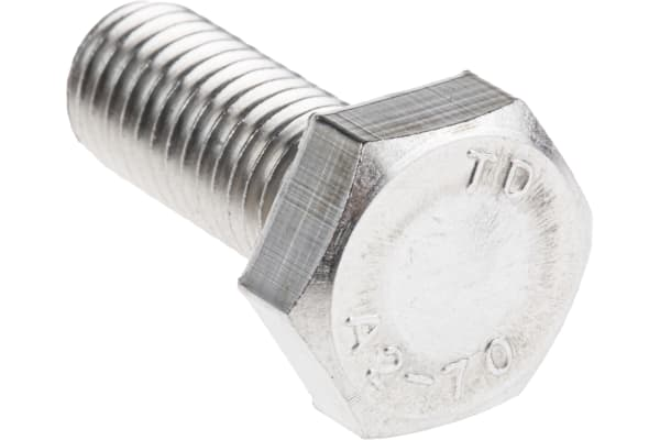 Product image for A2 s/steel hex head set screw,M10x25mm